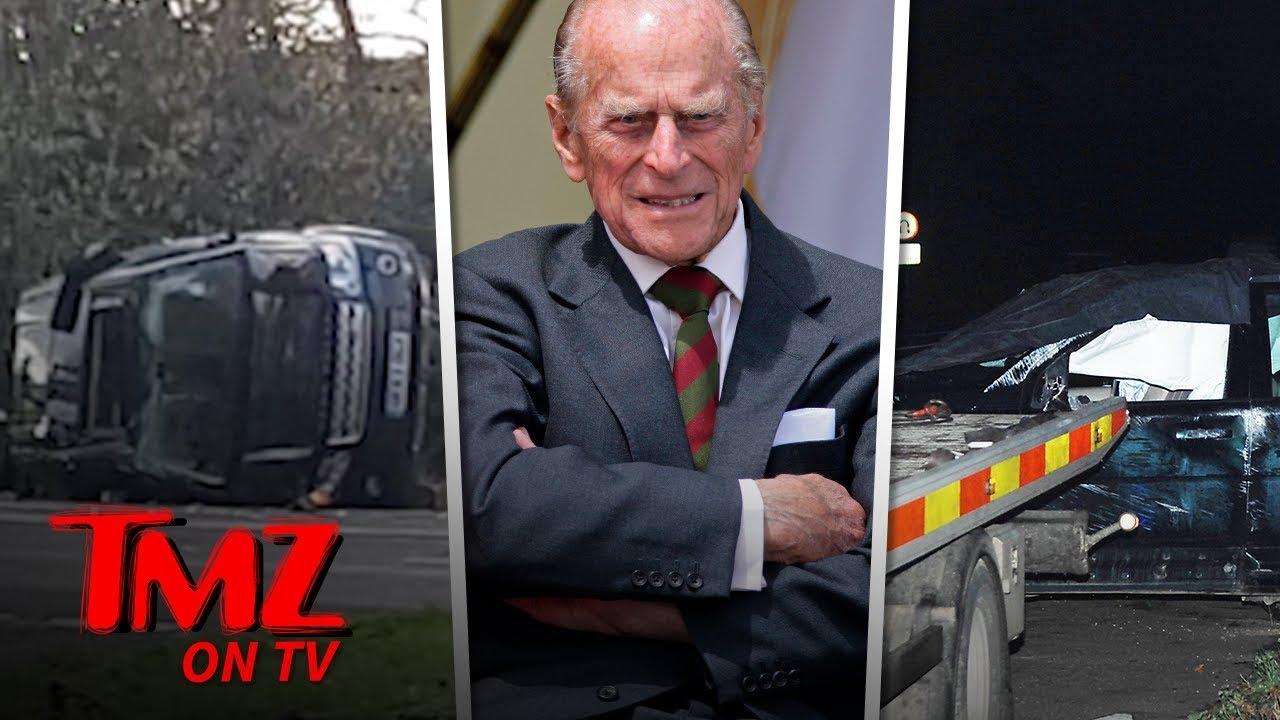 Prince Philip Flips His SUV in Crash & Police Give Him Breathalyzer Test | TMZ TV 5