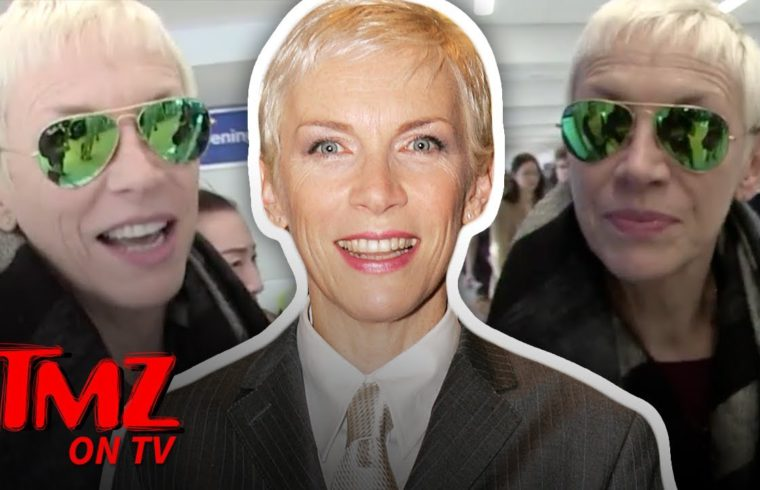 Fans Go Crazy When Seeing Annie Lennox At The Airport | TMZ TV 1