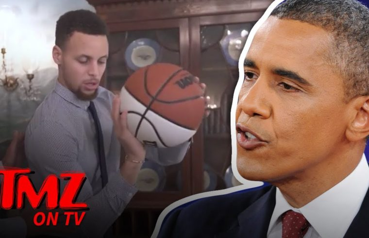 Barack Obama Takes Credit For Steph Curry's Lethal Jump Shot | TMZ TV 1