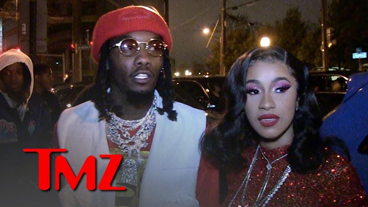 Offset, Cardi B Floss Diamonds Hitting Up 'Father of 4' Album Release Party | TMZ 5