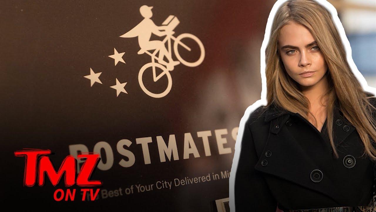 Cara Delevingne Has Dropped $25,000 On Postmates Since 2014 | TMZ TV 4