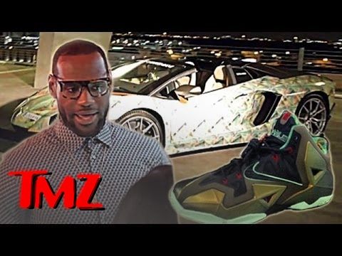 Lebron James Unveils A New Sneaker... And A Matching Lamborghini!! | TMZ 3