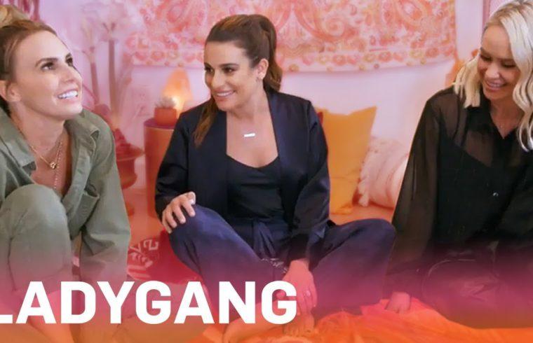 "Lea Michele Gets a Tarot Card Reading on ""LadyGang"" | E! 1"
