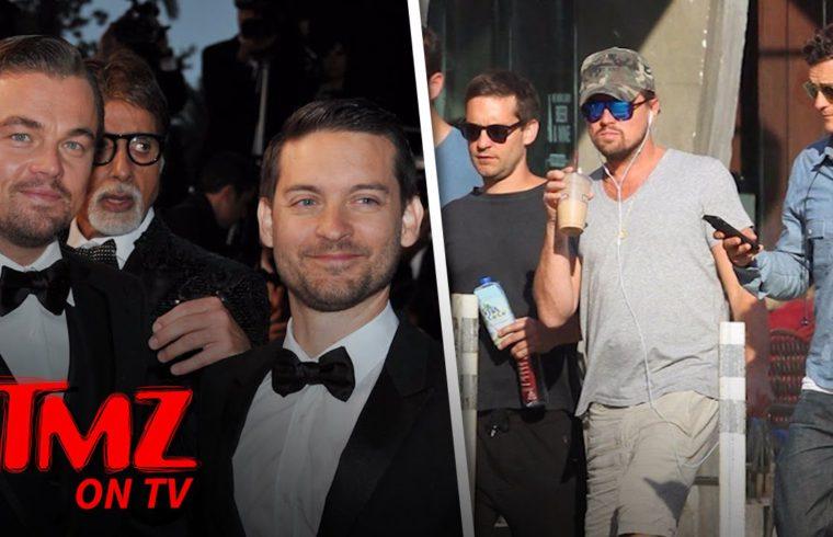 Leonardo DiCaprio and Tobey Maguire's Entourage Adds A New Friend | TMZ TV 1
