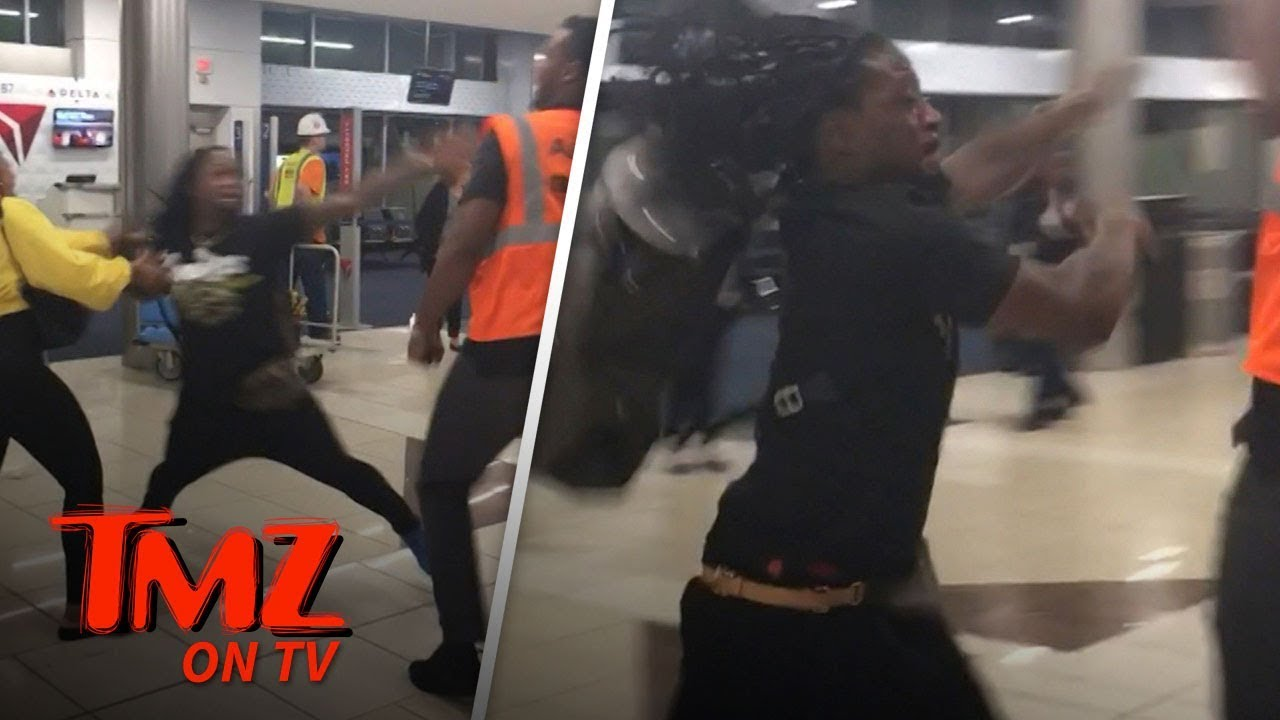 NFL Star In Wild Fight At Airport!   TMZ TV 4