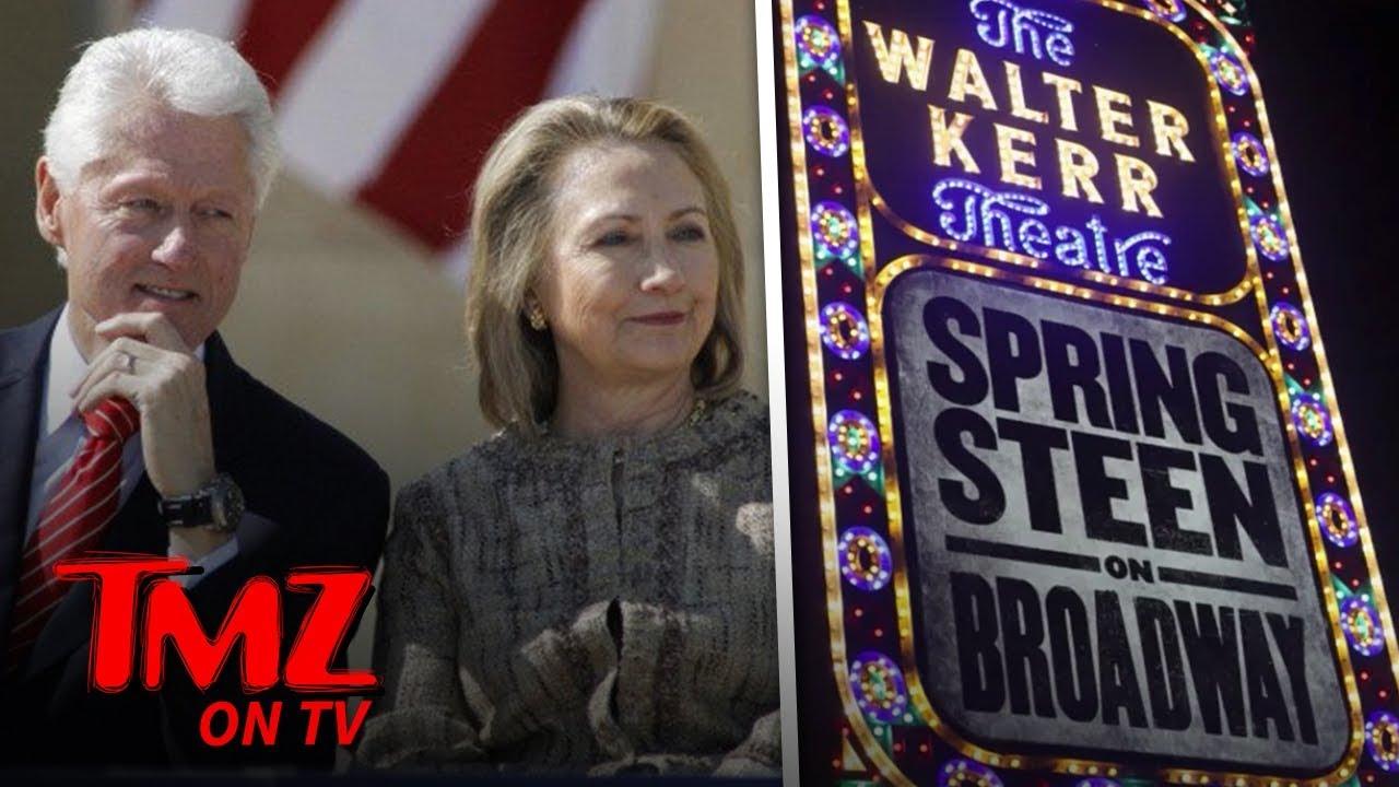 Hillary & Bill Hit Up A Springsteen Concert! | TMZ TV 3