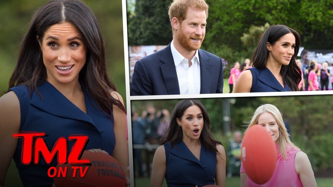 Meghan Markle Shows Off Her Baby Bump | TMZ TV 4