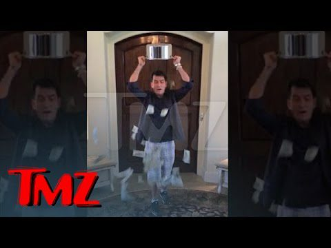 Charlie Sheen -- Ice Bucket Challenge with a BIG Twist | TMZ 6