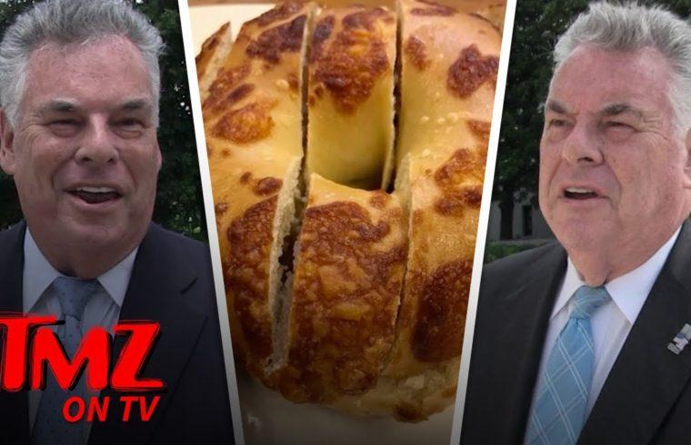 Congressman Weighs In On The Bagel Cutting Debate | TMZ TV 1