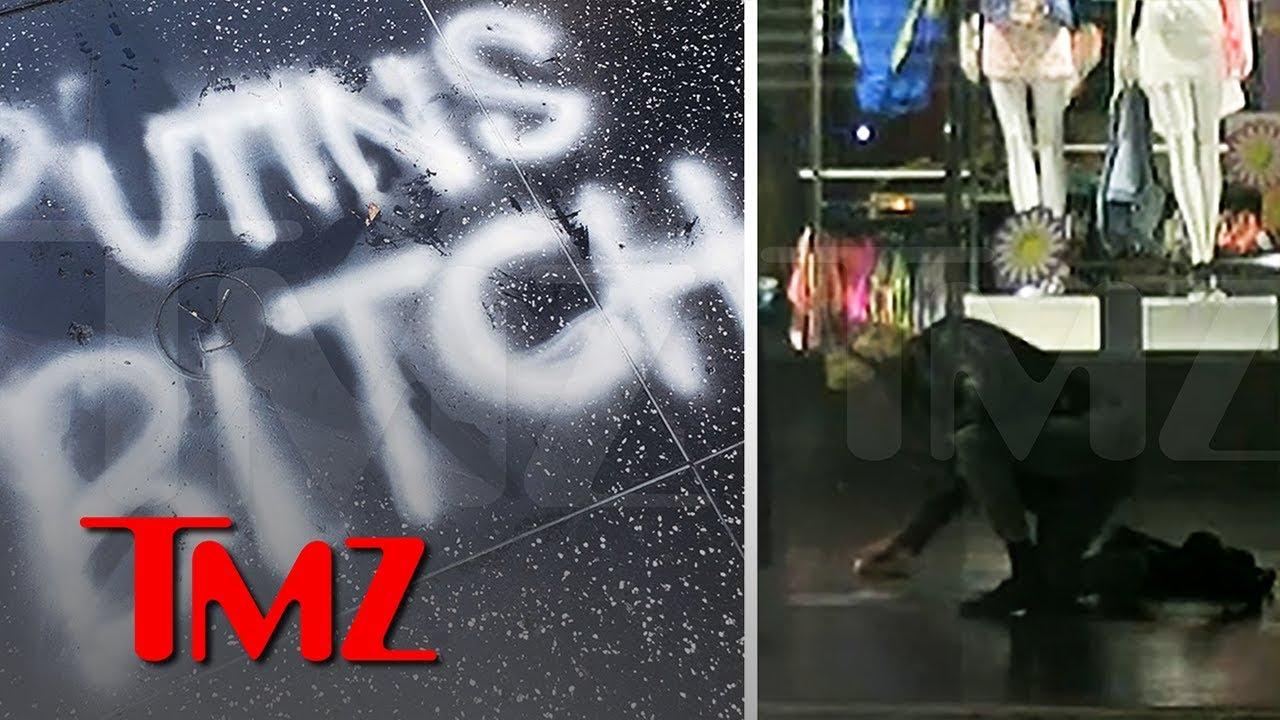 President Trump is 'Putin's Bitch' According to Vandalized Hollywood Star   TMZ 4