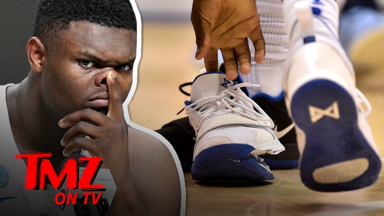 Zion Williamson's Blown Out Nike Shoe Is Missing & Could Be Worth $250K! | TMZ TV 4