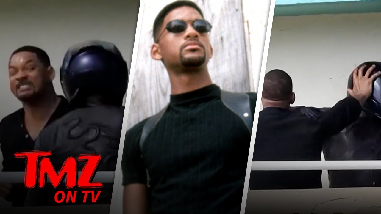 Will Smith Films Fight Scene for 'Bad Boys' 3, Hold the Stunt Double   TMZ TV 5