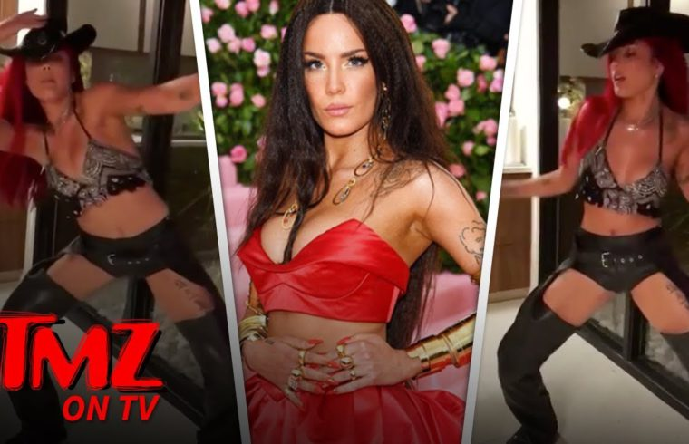 Halsey Twerks in Assless Chaps to Lil Nas X's 'Old Town Road' | TMZ TV 1