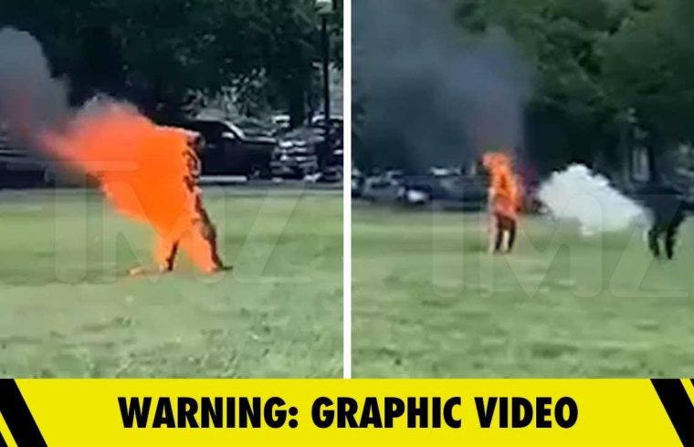 Man Sets Himself on Fire Near White House, Extinguished and Arrested | TMZ 1