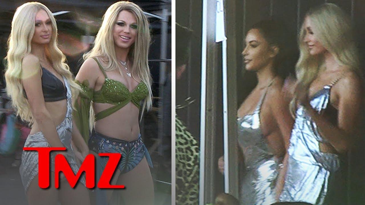 Kim Kardashian On Set for Paris Hilton's New Music Vid, 'Best Friend's Ass'   TMZ 4