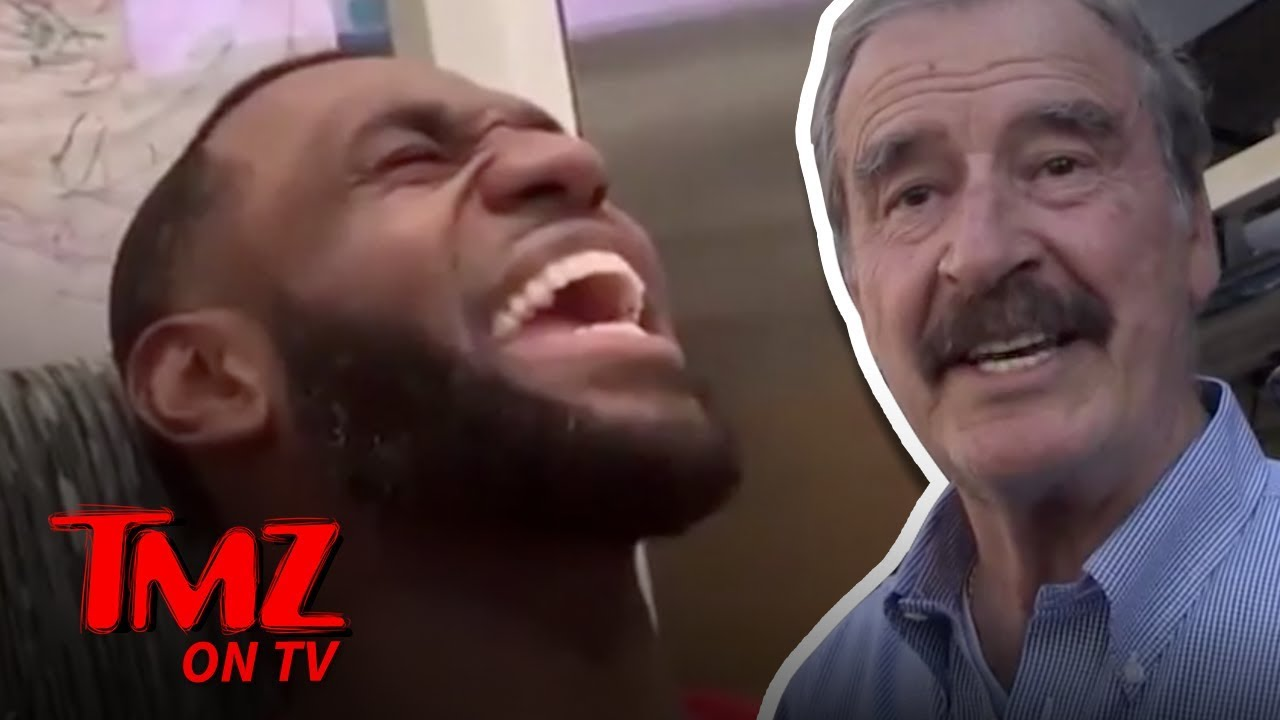 Former Pres. Vicente Fox Weighs in On Lebron James Mexican Grito | TMZ TV 1