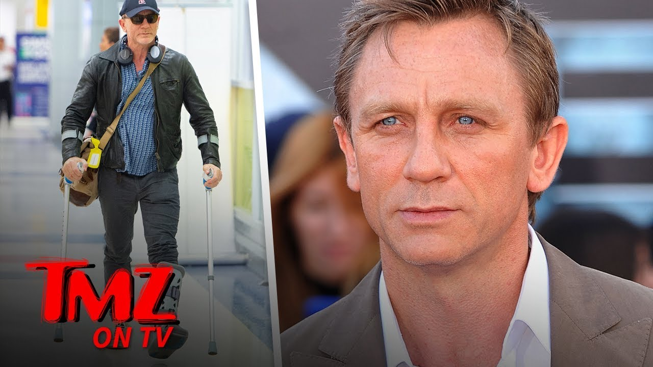 Daniel Craig's Walking on Crutches, Boot Following 'Bond 25' Injury | TMZ TV 1