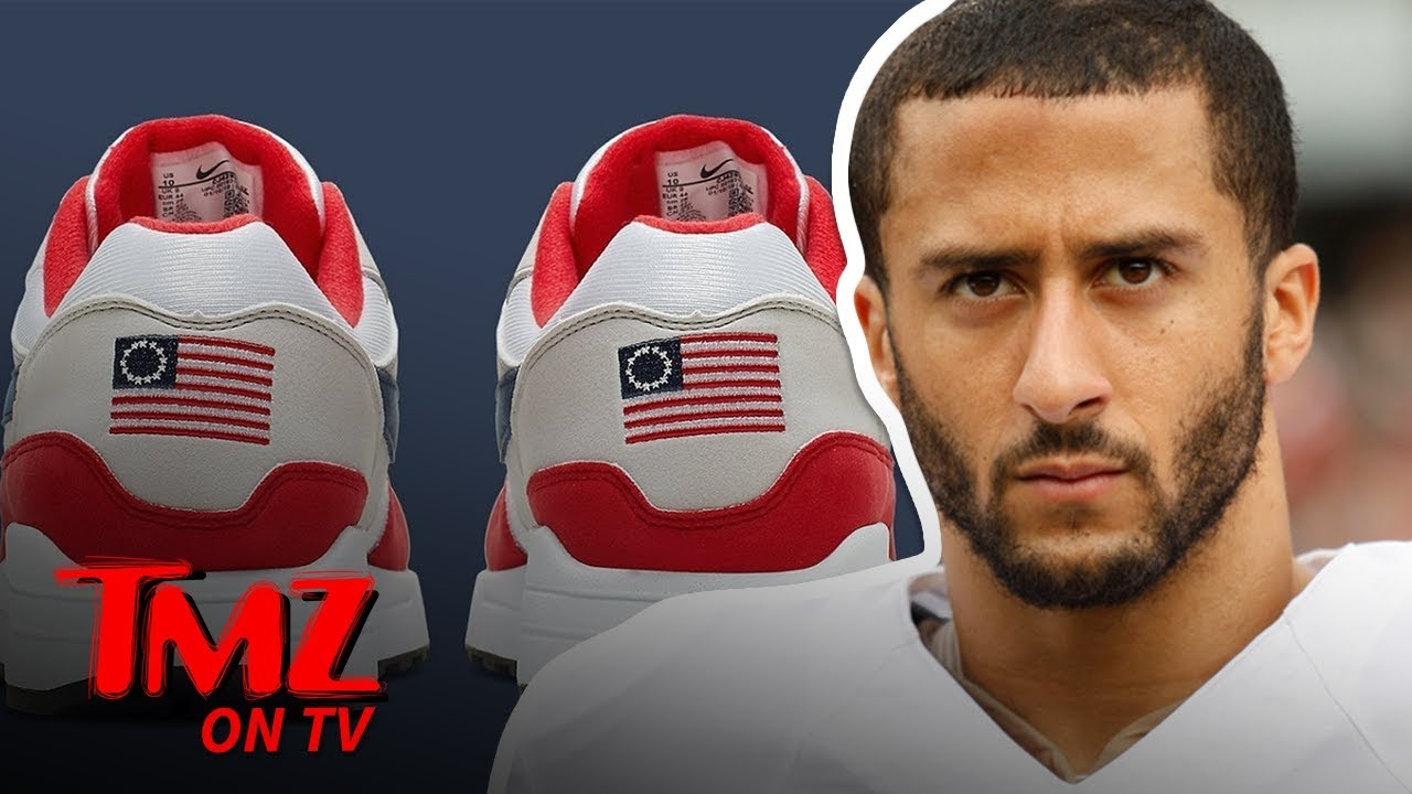 Colin Kaepernick Stopped Nike's Betsy Ross Shoes From Being Released | TMZ TV 1