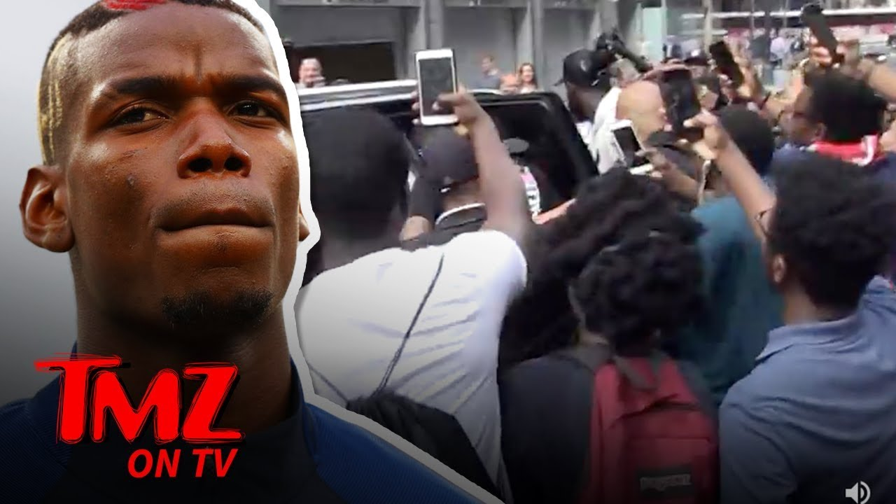 Paul Pogba Fan Crush In NYC Was Mind Blowing Craziness | TMZ TV 1